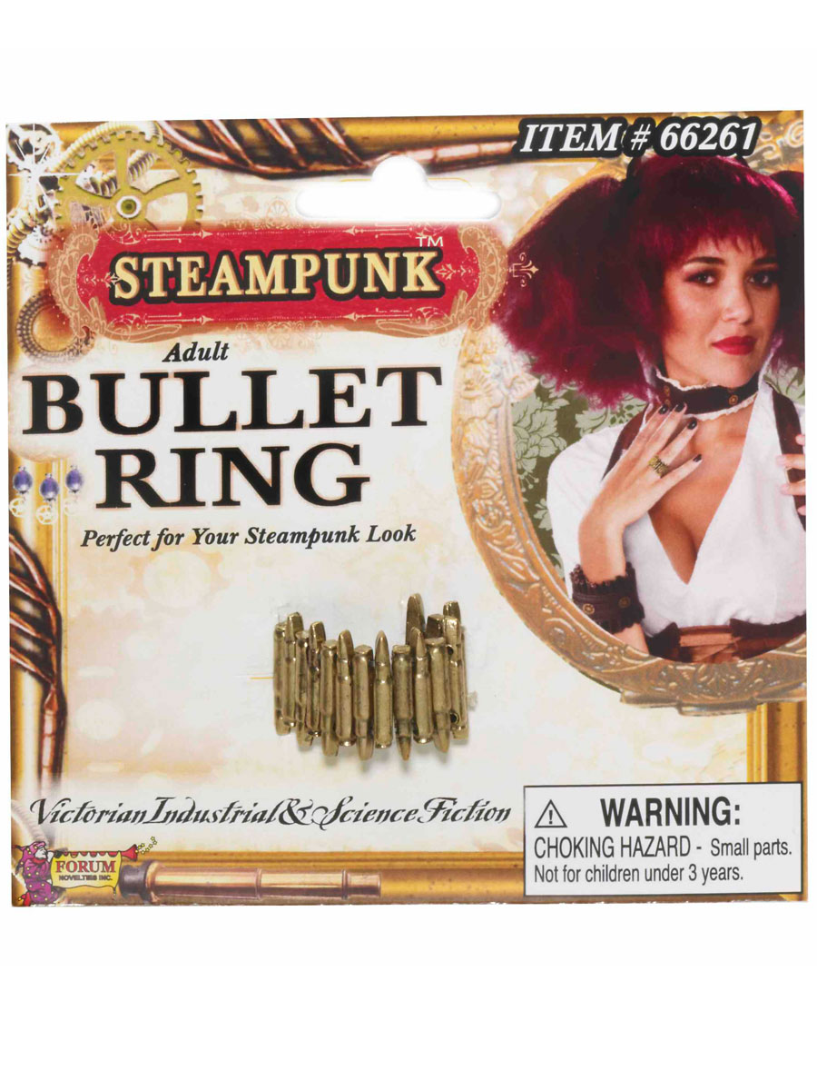 Costume Science Fiction Bague steampunk Bullet