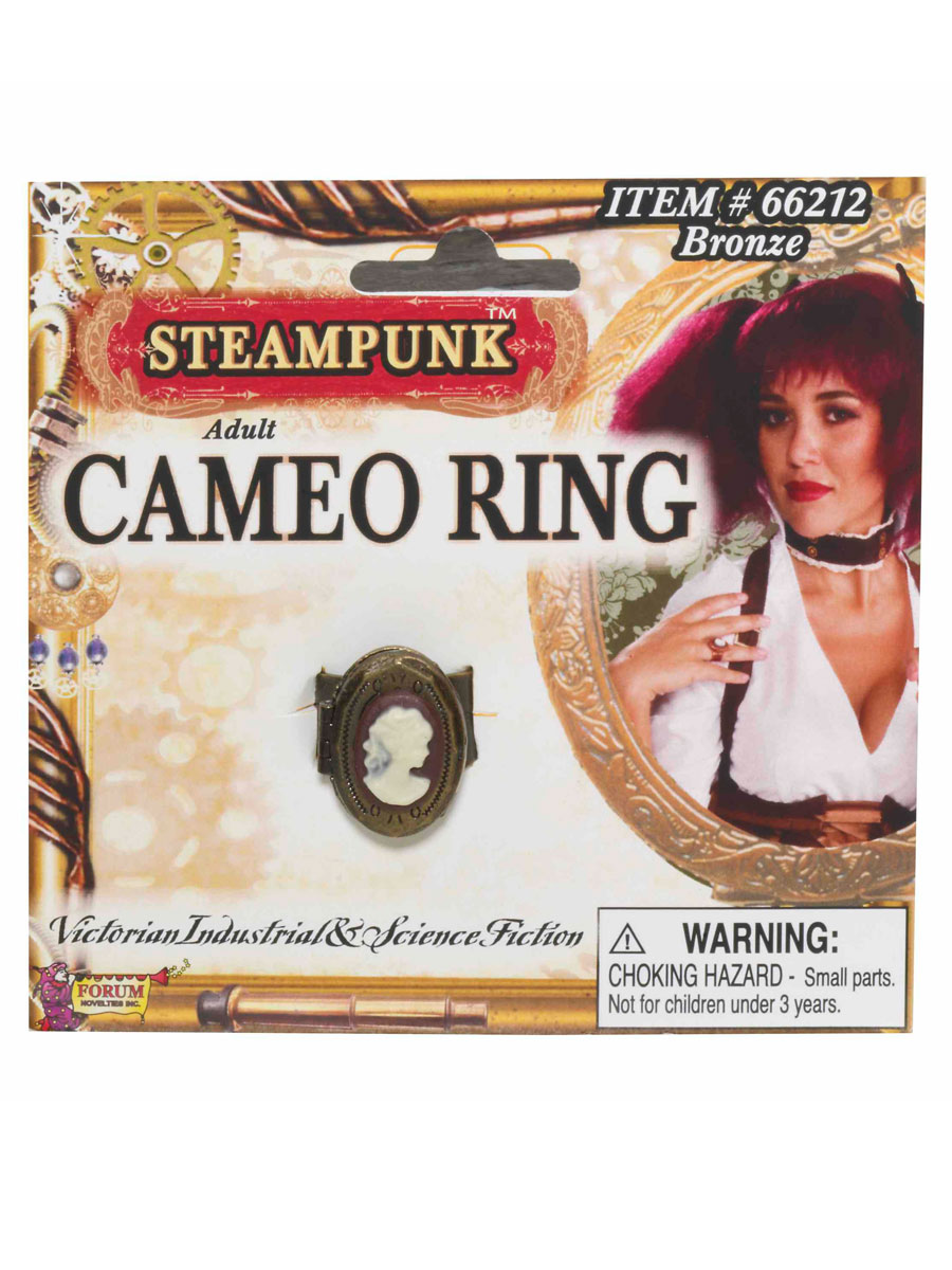 Costume Science Fiction Bague camée steampunk