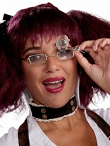 Clip de Monocle steampunk pour lunettes Costume Science Fiction
