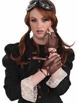 Gants sans doigts résille steampunk Costume Science Fiction