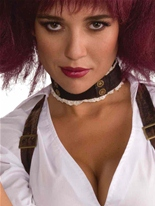 Cuir steampunk & collier dentelle Costume Science Fiction