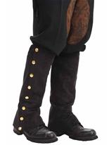 Guêtres steampunk noir Costume Science Fiction