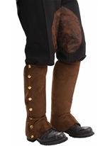 Guêtres steampunk Brown Costume Science Fiction