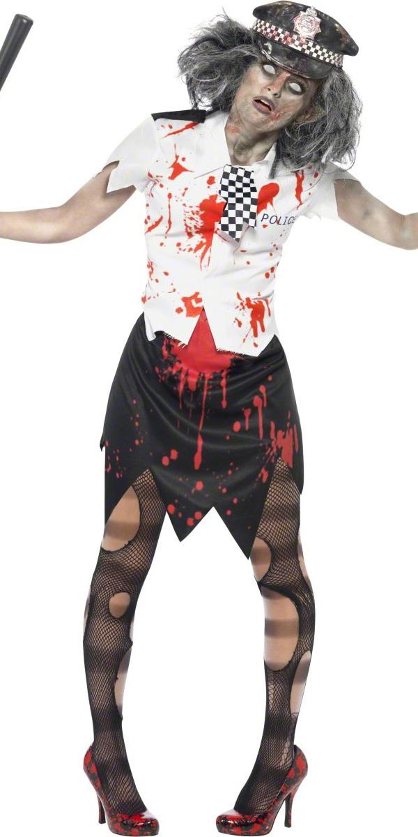 Costume Zombie Costume de femme policier de Zombie