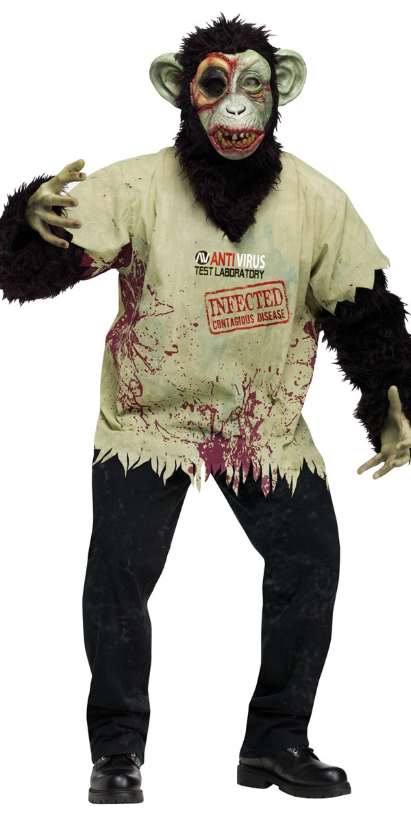 Costume Zombie Costume de chimpanzé Zombie