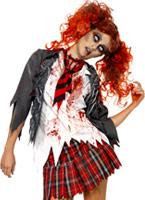 Zombie School Girl Costume Costume Zombie