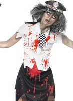 Costume de femme policier de Zombie Costume Zombie