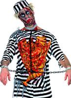 Costume de bagnard de Zombie Costume Zombie