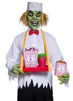 Cirque sinistre Popcorn dépravée homme Costume Costume Zombie