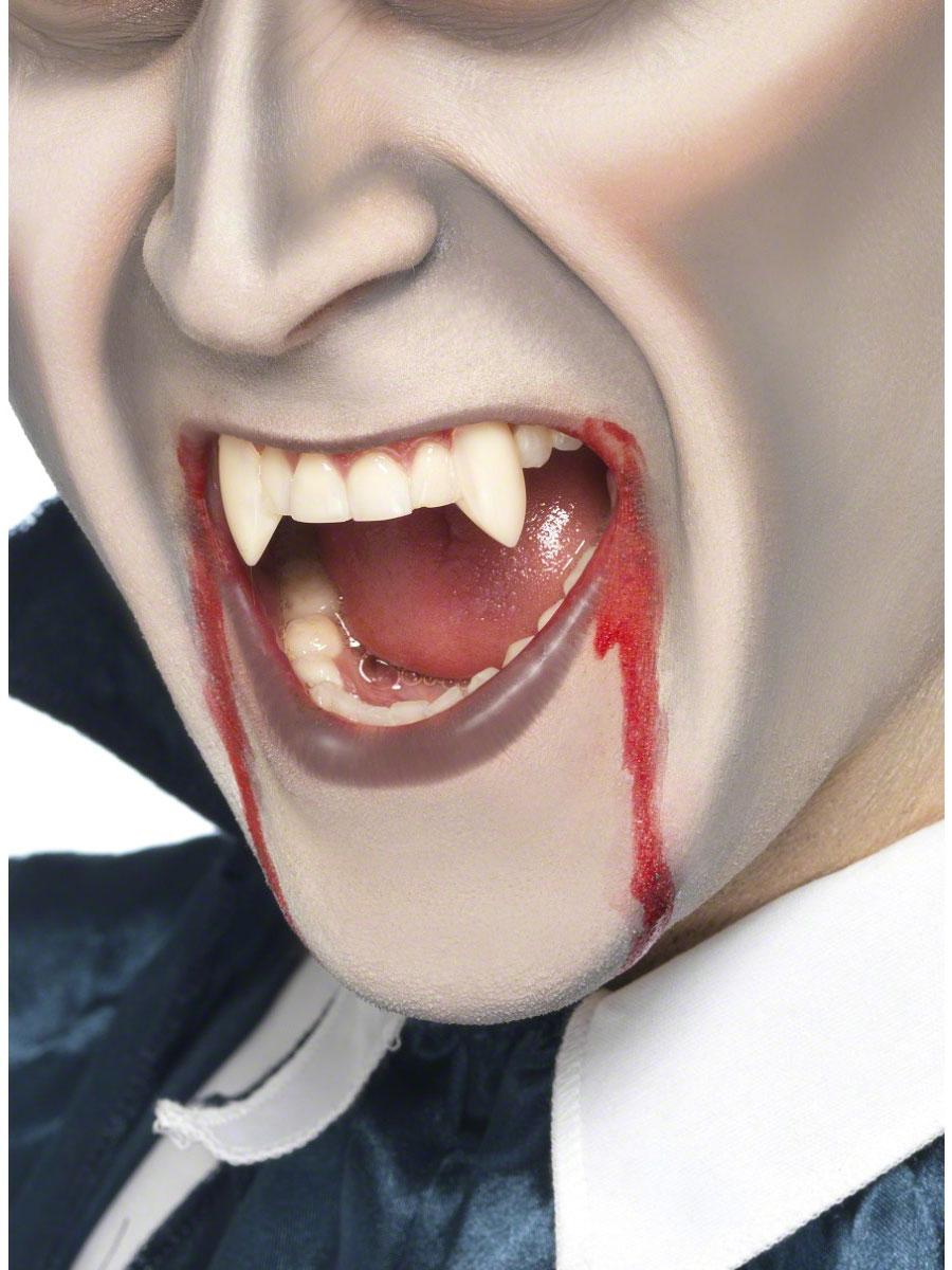 Gore et sang Halloween Vampire Fang dent casquettes blanc