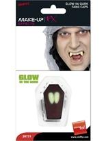 Brillent dans les crocs de Vampire Dark Gore et sang Halloween