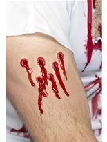 Cicatrice de trous de balle Gore et sang Halloween