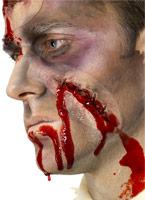 Gites cousu vers le haut de cicatrice Gore et sang Halloween