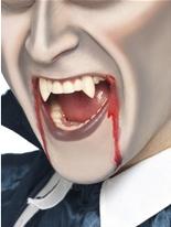 Vampire Fang dent casquettes blanc Gore et sang Halloween