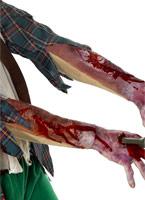 Manchon de latex avec cicatrice Gore et sang Halloween
