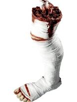 Momie démembré jambe Gore et sang Halloween