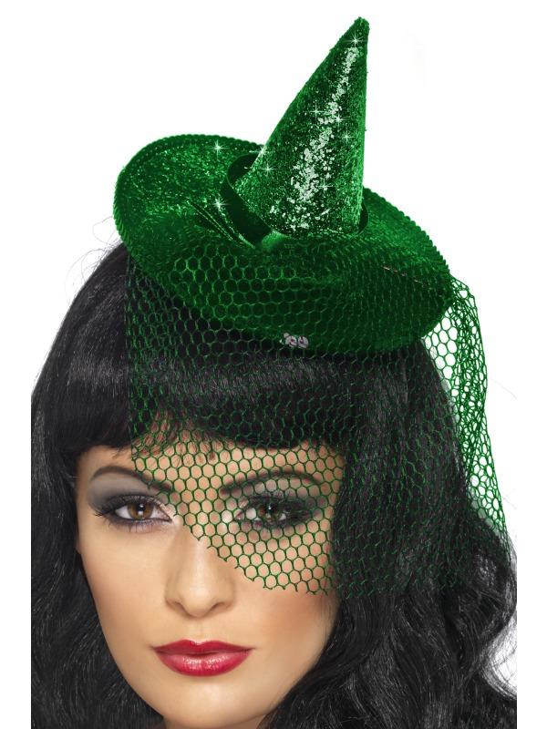 Halloween Capes et chapeaux Paillettes Mini chapeau de sorcière