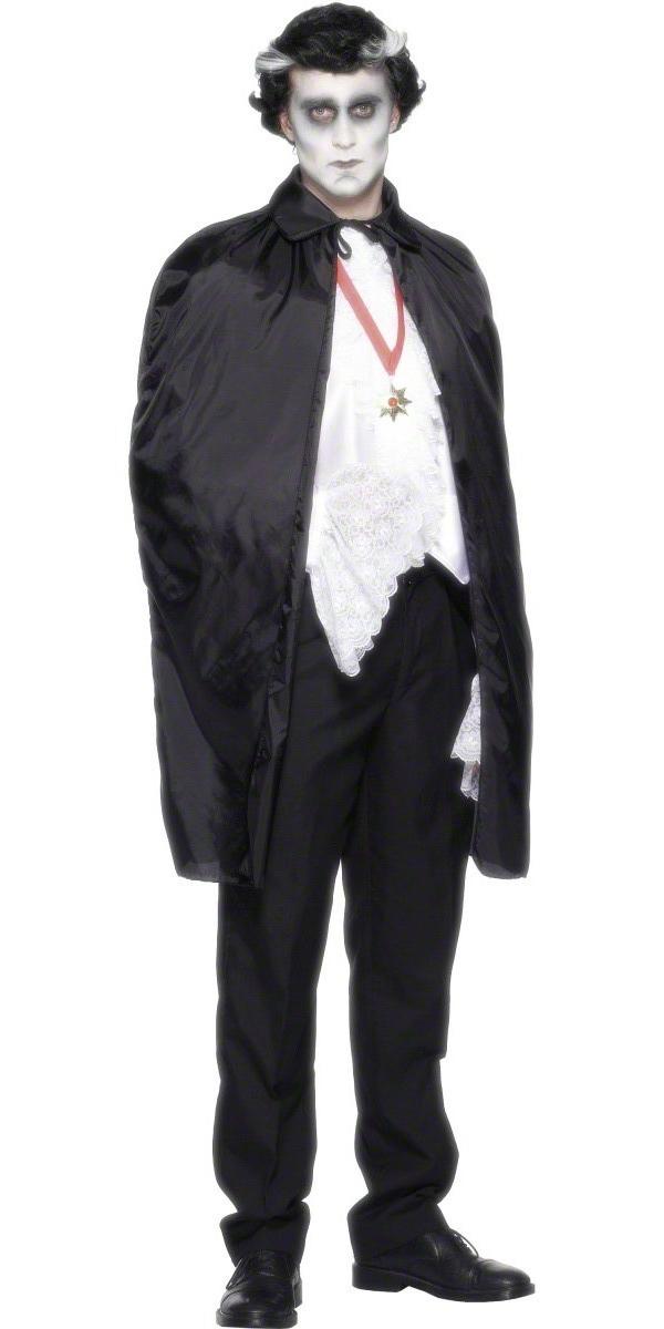 Halloween Capes et chapeaux Tissu noir brillant de Cap