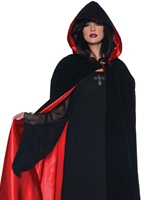 Mesdames luxe velours & Cape de Satin rouge Halloween Capes et chapeaux