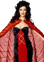 Manoir gothique rouge et or Cap Halloween Capes et chapeaux