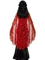 Halloween Capes et chapeaux Manoir gothique rouge et or Cap