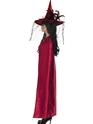 Halloween Capes et chapeaux Luxe rouge et noir réversible sorcières Cap
