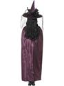 Halloween Capes et chapeaux Deluxe violet et noir réversible sorcières Cap