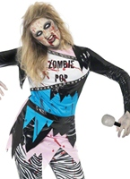 Zombie Teen Pop Star Costume Halloween Adolescentes