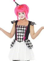 Costume de Clown Pierrot Teen Halloween Adolescentes