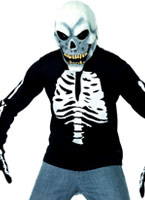 T-Shirt squelette ados Halloween Adolescentes
