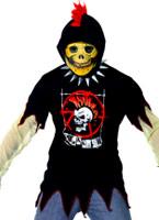 Teen squelette Punk à capuche Halloween Adolescentes