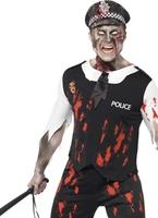Costume de policier de Zombie Halloween Costume Homme