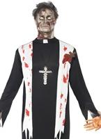 Costume de prêtre Zombie Halloween Costume Homme