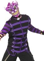 Costume de chat de Cheshire de cauchemar Halloween Costume Homme
