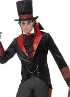Costume noir de Dracula Halloween Costume Homme