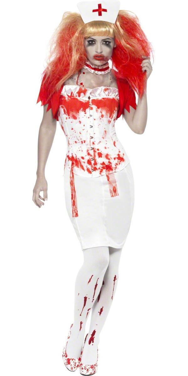Halloween Costume Femme Costume infirmière de goutte à goutte de sang