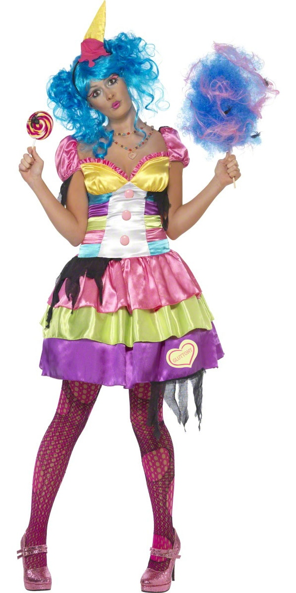Halloween Costume Femme Costume de sept péchés de gourmandise