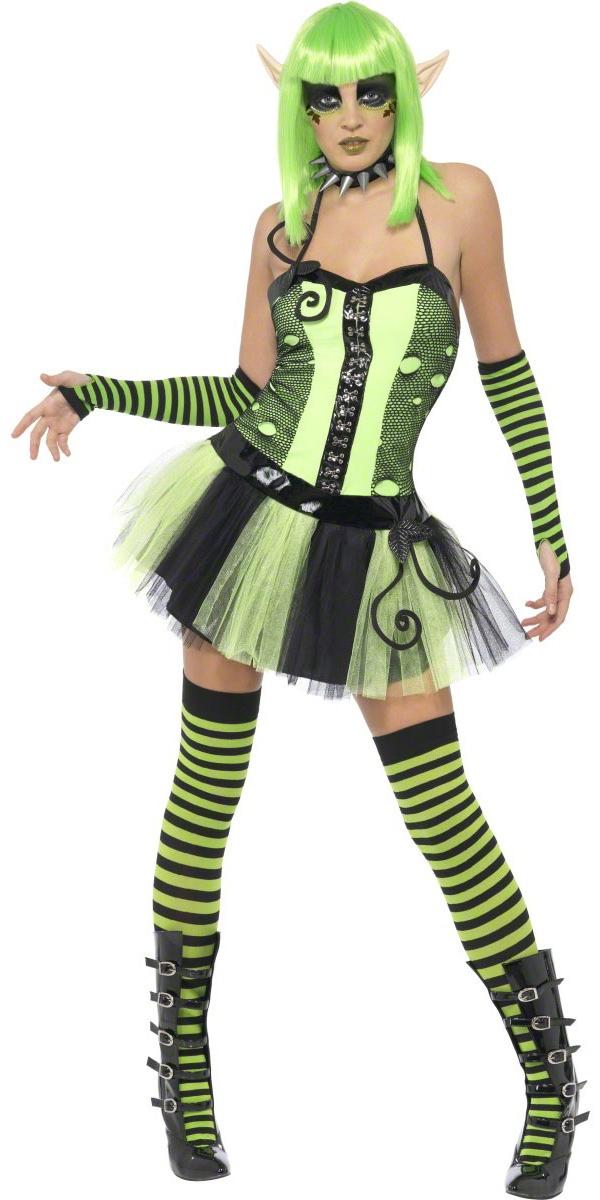 Halloween Costume Femme Costume elfe de lierre sauvage contaminé jardin