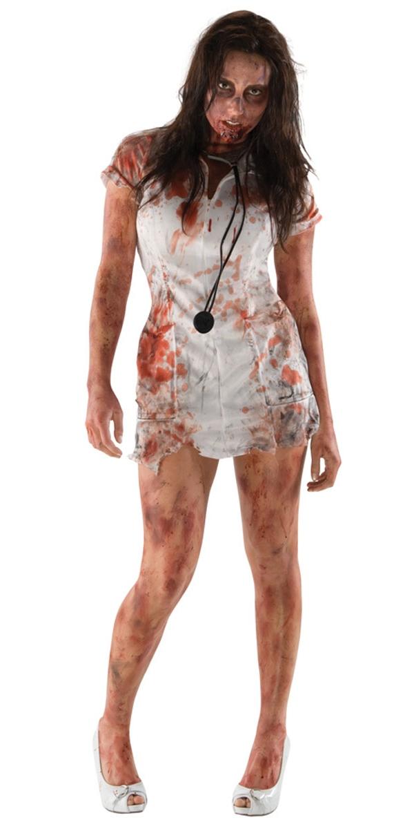 Halloween Costume Femme Le Costume d'infirmière Zombie mort marche