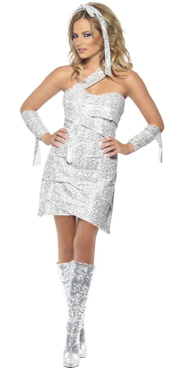 Halloween Costume Femme Fièvre momie éblouir Costume