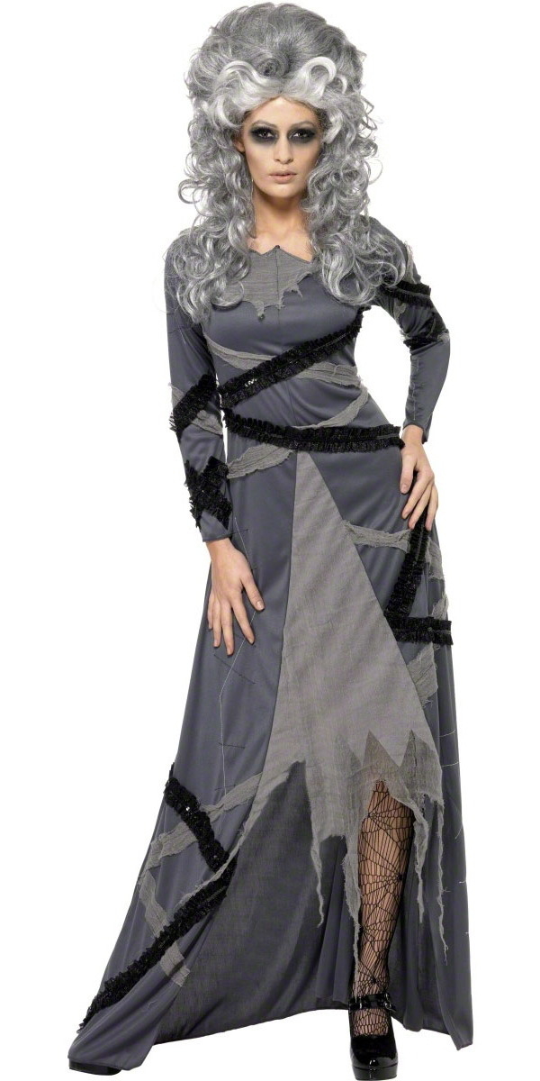 Costume de mari e gothique de monstres momies halloween costume femme costume halloween 05 - Deguisement halloween mariee ...