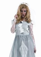Costume de mariée blanc cadavre Halloween Costume Femme
