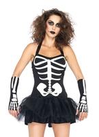 Sexy Costume de squelette Halloween Costume Femme