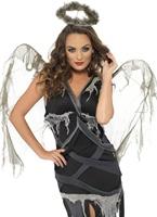 Sombre Costume d'ange déchu Halloween Costume Femme