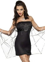Costume de veuve de fièvre Halloween Costume Femme