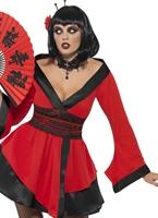 Costume de femme Geisha gothique Halloween Costume Femme