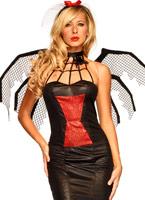 Costume de veuve noire beauté Halloween Costume Femme
