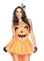 Costume de princesse citrouille Halloween Costume Femme