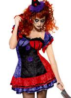 Cirque sinistre Bo Bo le Costume de Clown Halloween Costume Femme