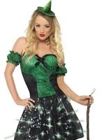 Méchante sorcière Light Up Costume Halloween Costume Femme